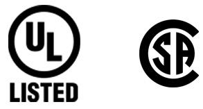 UL Listed & CSA